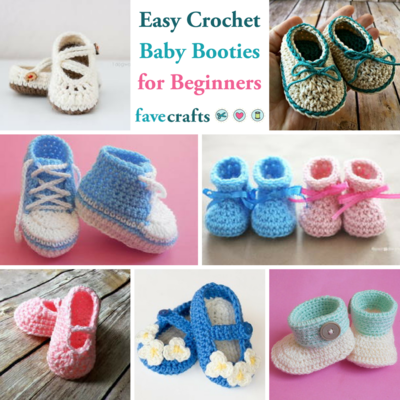 15 Easy Crochet Baby Booties For Beginners Favecrafts