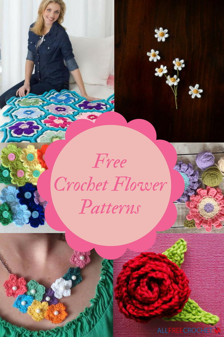 38 Free Crochet Flower Patterns | AllFreeCrochet.com