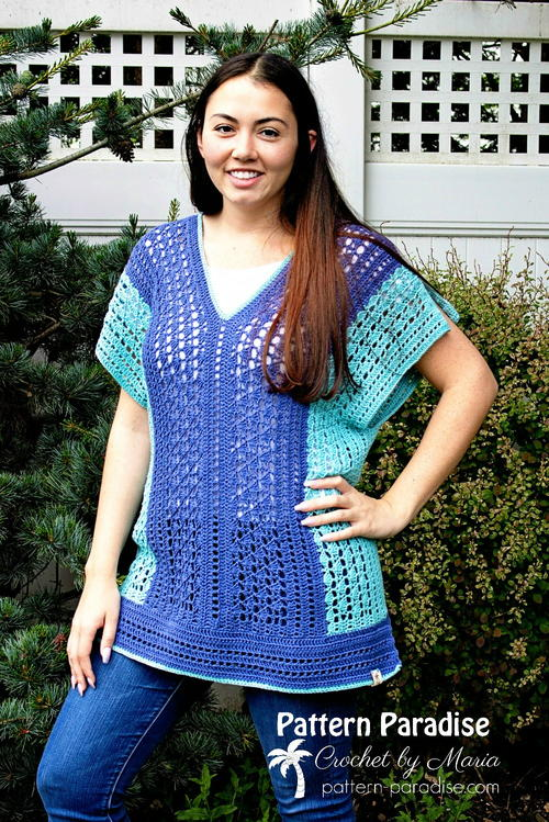 Weekender Tunic And Beach Cover Up Allfreecrochet