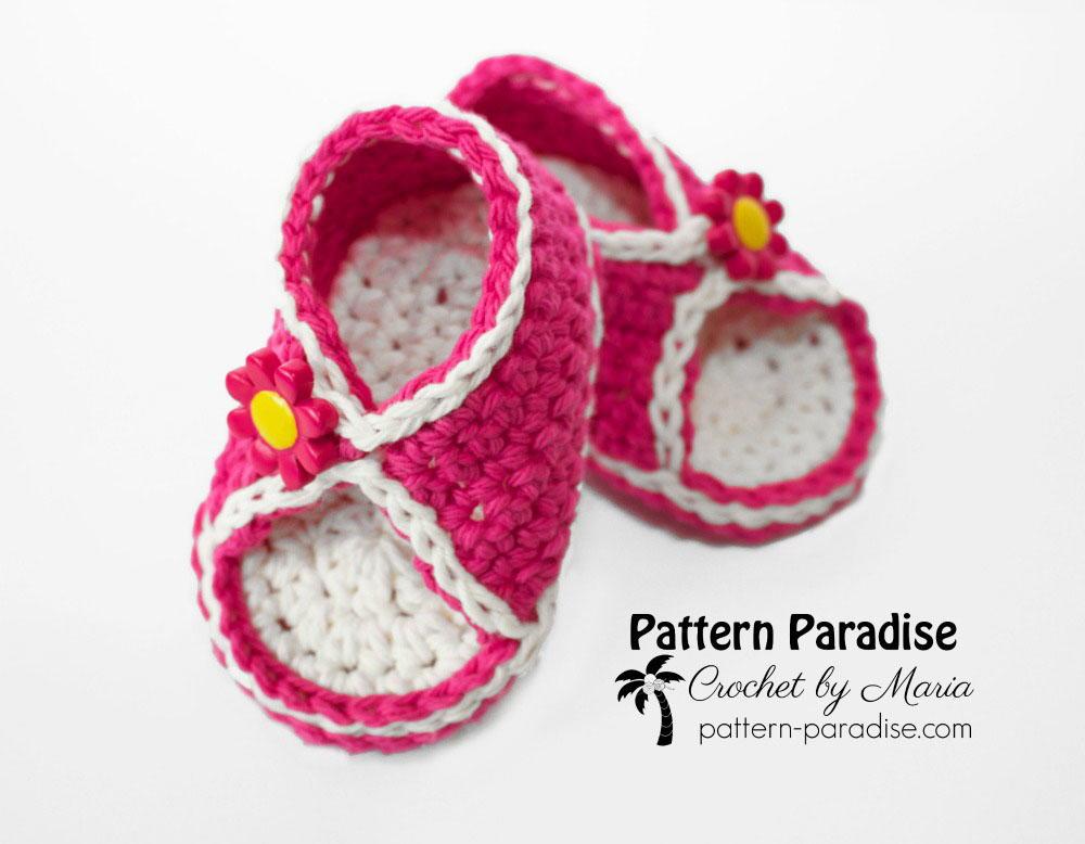 Peek A Boo Baby Crochet Sandals Allfreecrochet