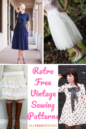 54 Retro Free Vintage Sewing Patterns