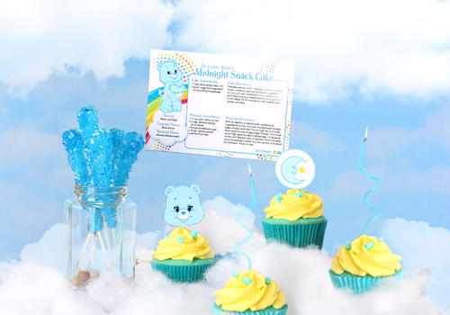 Printable Care Bears Recipe Cards and Cupcake Toppers