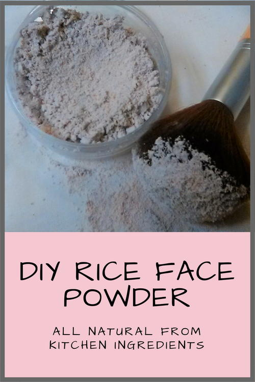 DIY Rice Face Powder