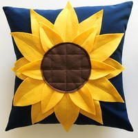 One Hour Sunflower Pillow
