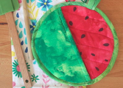 Watermelon DIY Potholder Tutorial