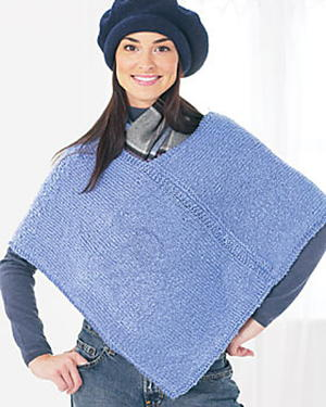 Two Piece Knit Poncho Pattern