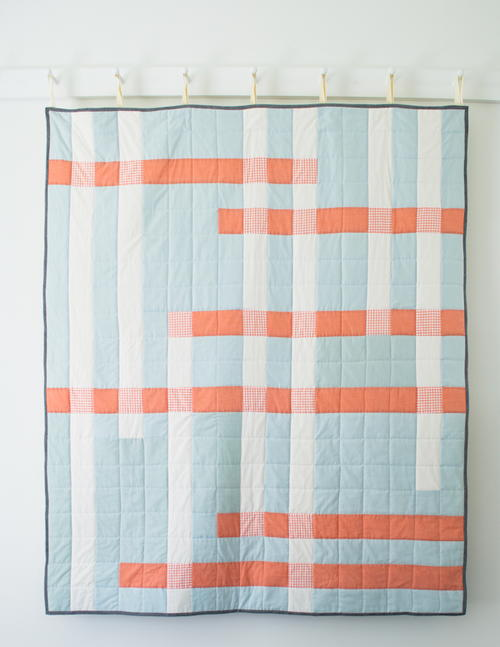 Coral Crossroads Quilt