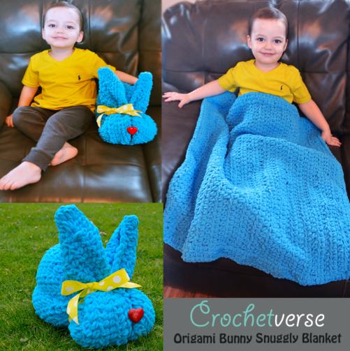 Easy Bunny Snuggly Crochet Blanket Allfreecrochetafghanpatterns