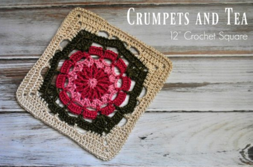Vintage Crumpets and Tea Crochet Square
