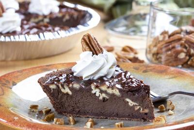 Chocolate Pecan Fudgy Pie Mrfood Com