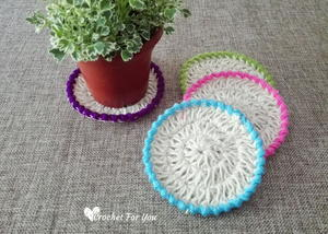 Jute Hemp Crochet Coasters