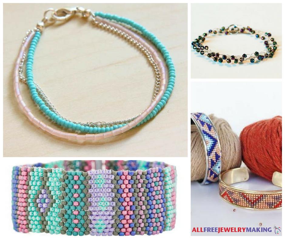 24 DIY Seed Bead Bracelets   AllFreeJewelryMaking.com