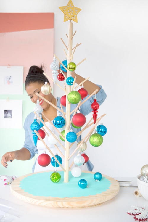 Lazy Susan Christmas Tree Idea
