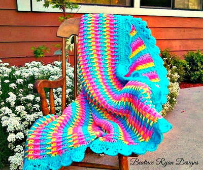 Colors of the Rainbow Baby Blanket