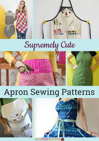 40 Supremely Cute Apron Sewing Patterns AllFreeSewing Simple Apron Patterns