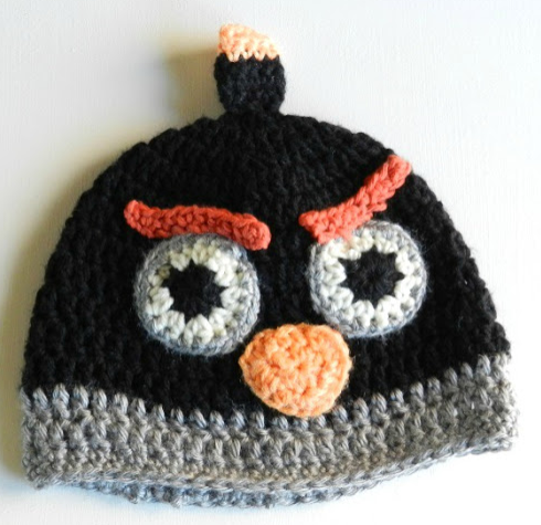 Angry Birds Crochet Winter Hat