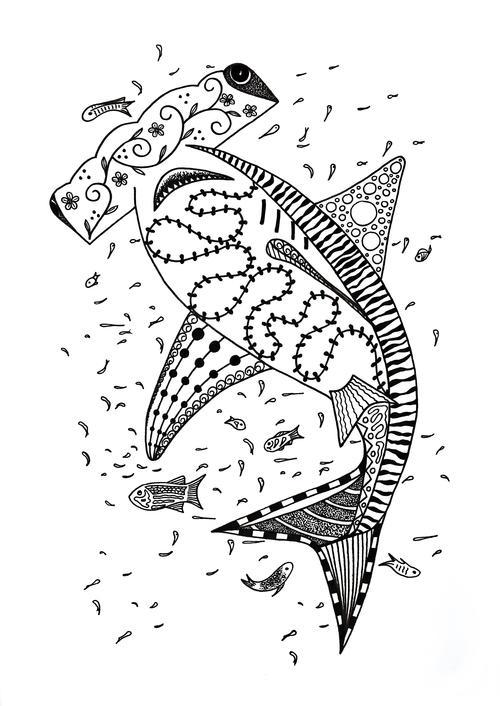 Hammerhead Shark Coloring Page | FaveCrafts.com
