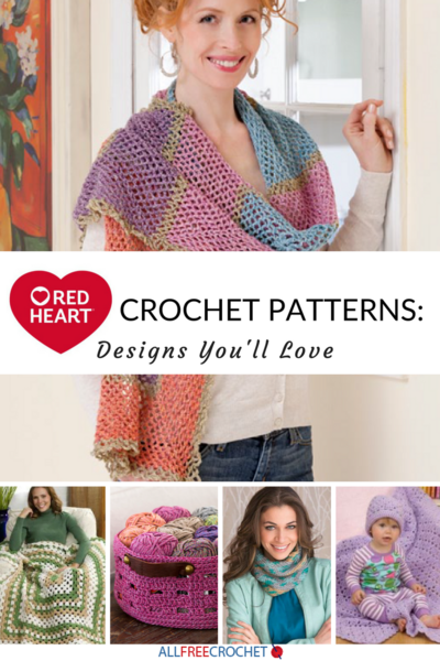 Red Heart Yarn Crochet Patterns 19 Crochet Designs Youll Love