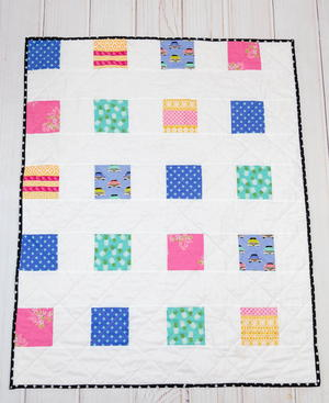 Four Square Simple Charm Pack Baby Quilt