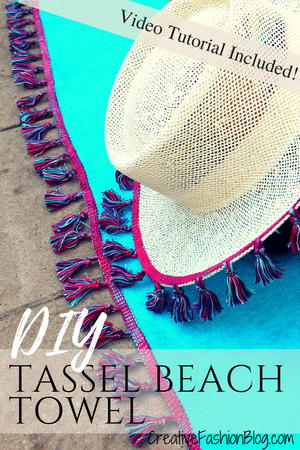 DIY Boho Tassel Beach Towel