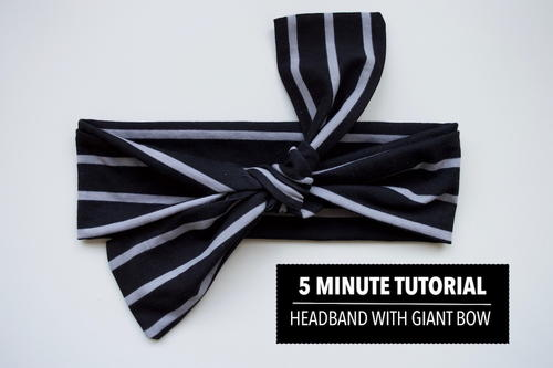 5-Minute Giant Bow DIY Headband