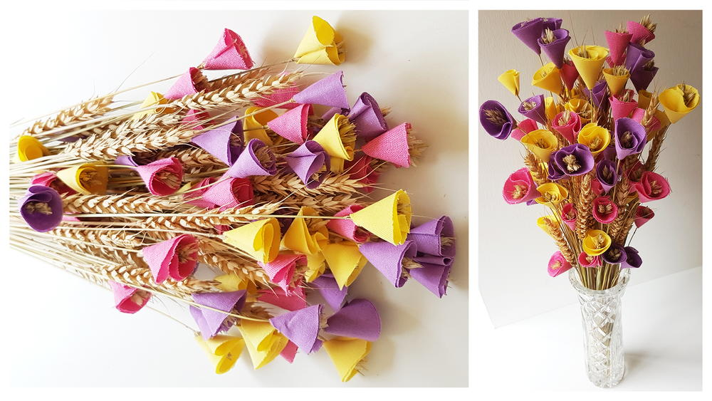 Fabric Flower Bouquet DIY | FaveCrafts.com