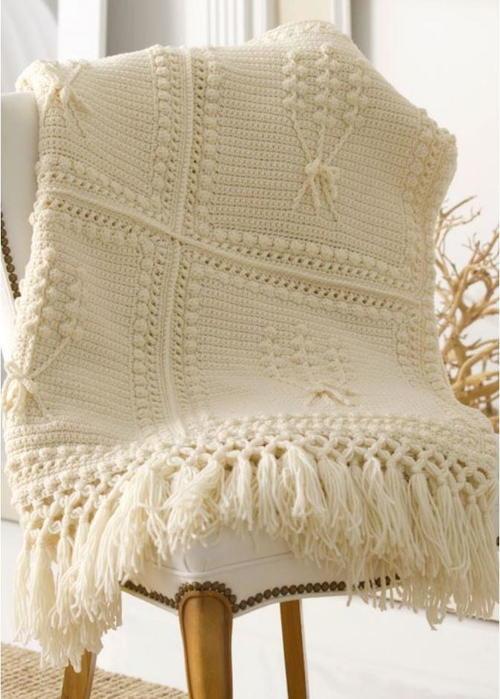 Aran Nosegay Crochet Throw AllFreeCrochet Cool Aran Throw Blanket