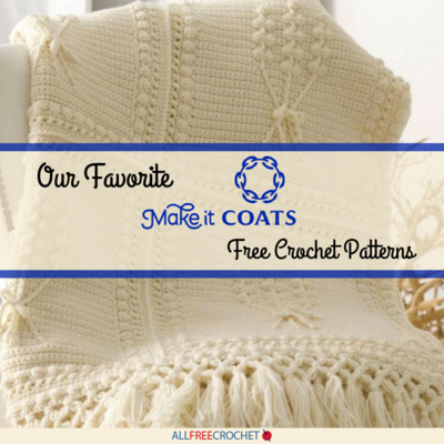 Our 8 Favorite Coats  Clark Free Crochet Patterns