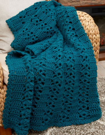 Falling Leaves Afghan Pattern