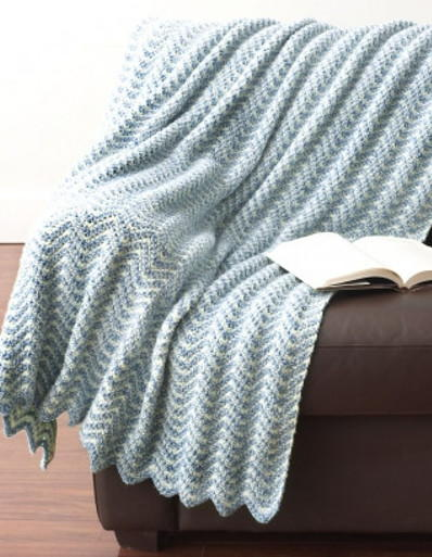Water Ripples Crochet Afghan