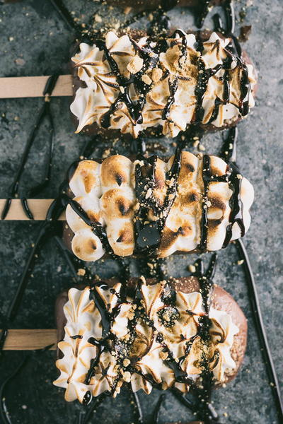 S'mores Popsicles with Toasted Marshmallow Meringue