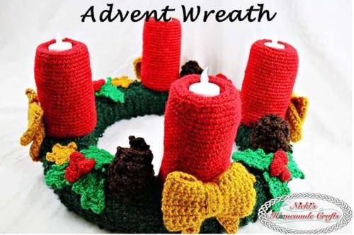 Crochet Christmas Advent Wreath Allfreecrochet