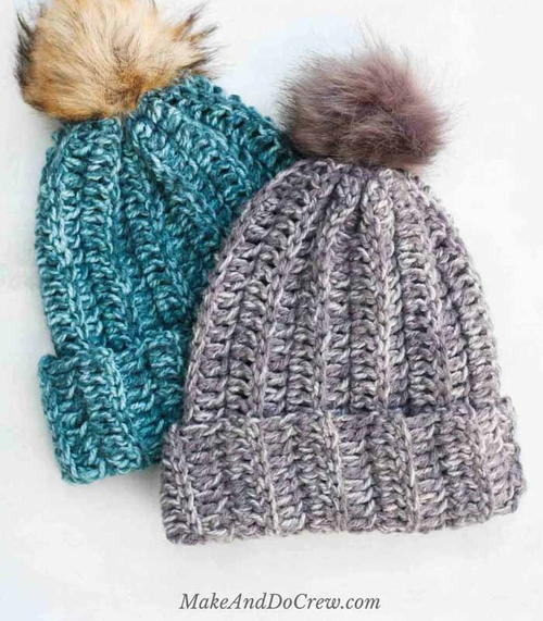 Easy Knit Look Crochet Hat Pattern Allfreecrochet