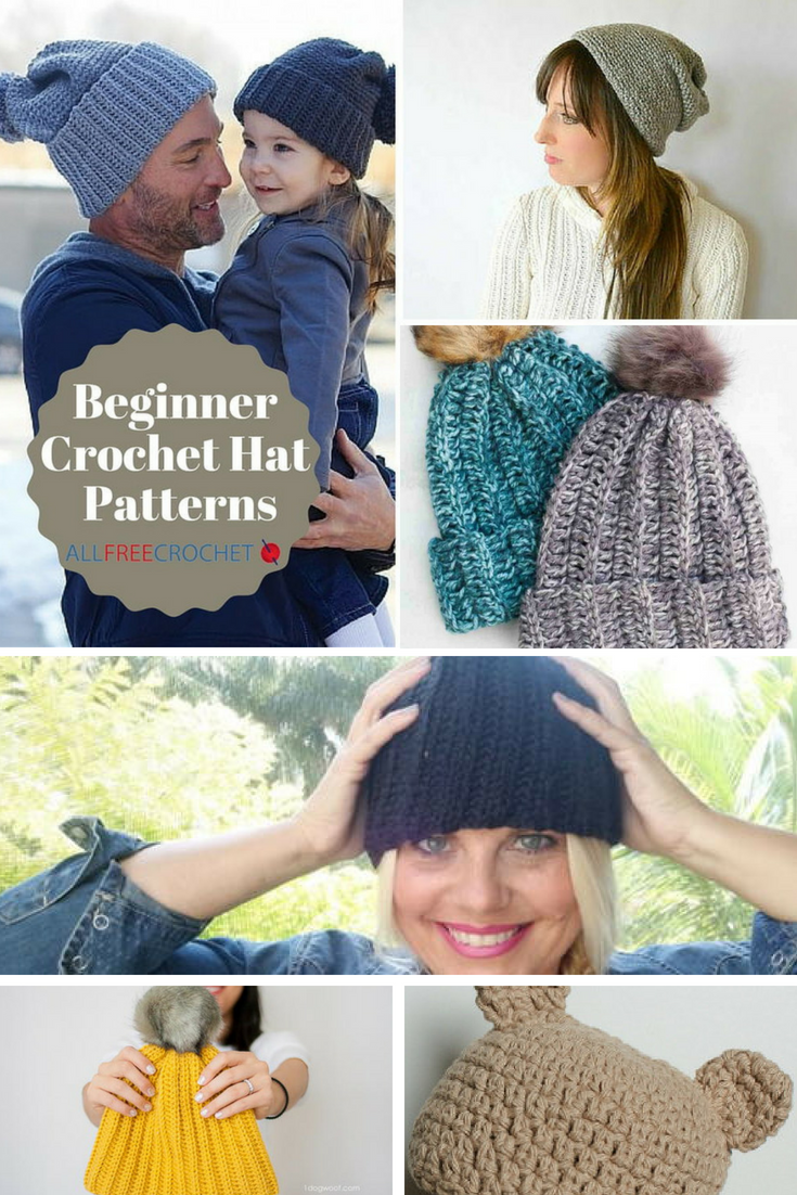 50 Free Crochet Hat Patterns For Beginners Diagram
