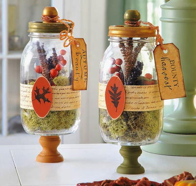 Harvest Terrarium Table Decorations