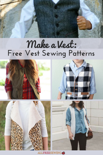 Make a Vest: 13+ Free Vest Sewing Patterns | AllFreeSewing.com