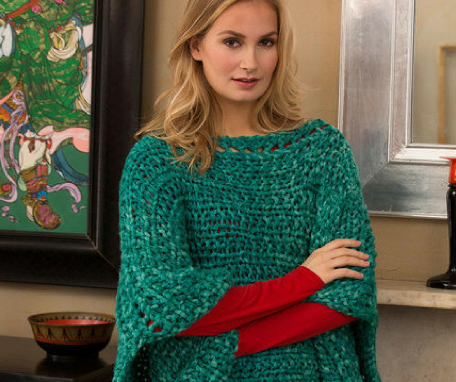 27 Knit Poncho Patterns to Keep You Cozy | AllFreeKnitting.com