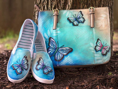 Butterfly Shoes & Purse