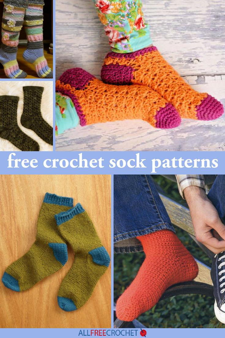 How to tie crochet socks