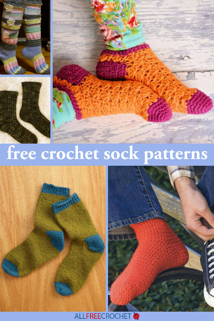 32 Free Crochet Sock Patterns | AllFreeCrochet.com