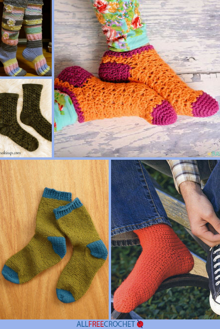 32 Free Crochet Sock Patterns   AllFreeCrochet.com