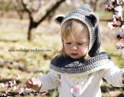 Rustic Raccoon Hooded Cowl Allfreecrochet
