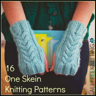16 One Skein Knitting Patterns