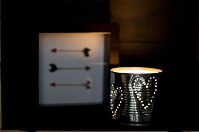 Lovely Tin Can Table Luminary