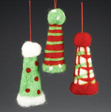 Cute Santa Hat Ornaments