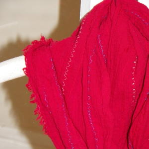 Raveled Edge Summer Scarf