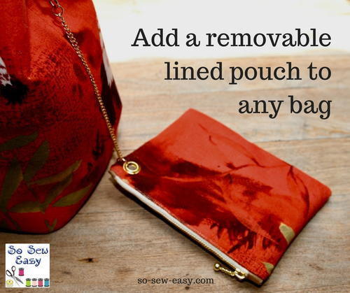 DIY Removable Lined Pouch