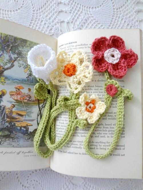 Crochet Flower Bookmarks Allfreecrochet
