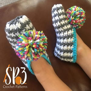 Comfy Houndstooth Slippers