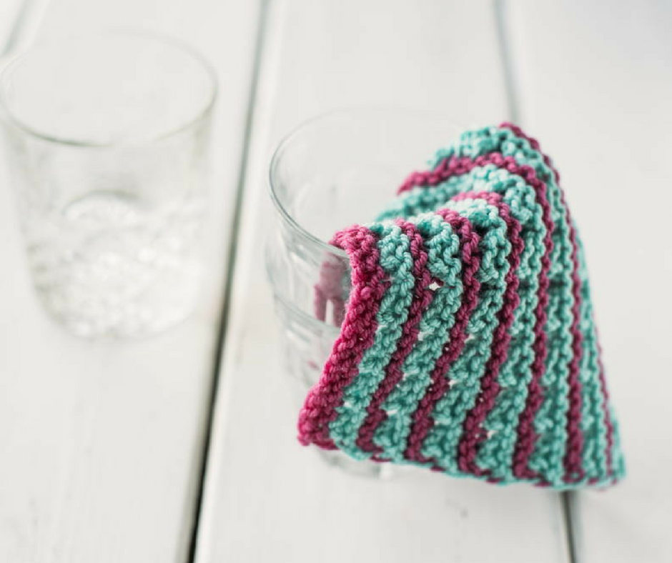 12 Knit Dishcloth Patterns for Beginners | AllFreeKnitting.com